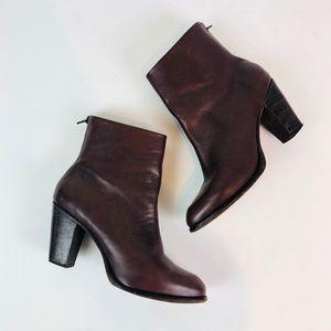 Rachel Comey Prose Brown Oxidado Ankle Boots